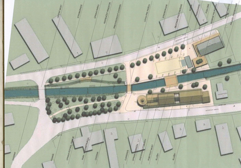 Centrum – urbanisticko-architektonický návrh A